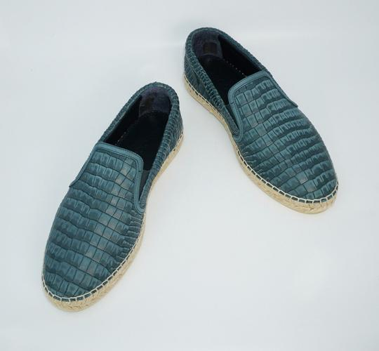 Jimmy Choo Green Vlad Leather Croc Print Logo Espadrille 41 8 Spain Shoes Image 1