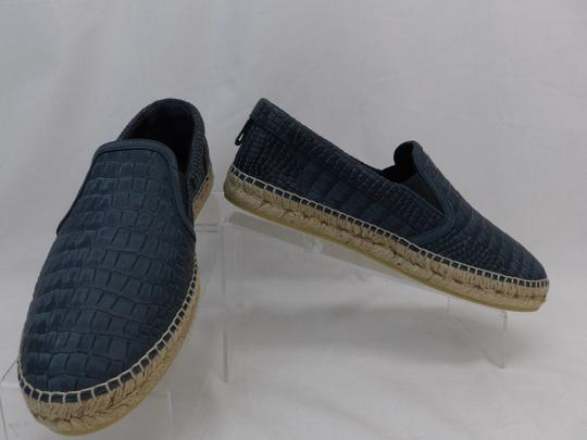 Jimmy Choo Green Vlad Leather Croc Print Logo Espadrille 41 8 Spain Shoes Image 6