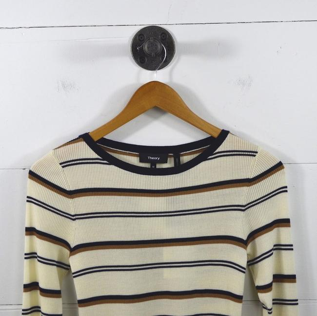 Theory Fall Holiday Striped Night Out Date Night Sweater Image 1