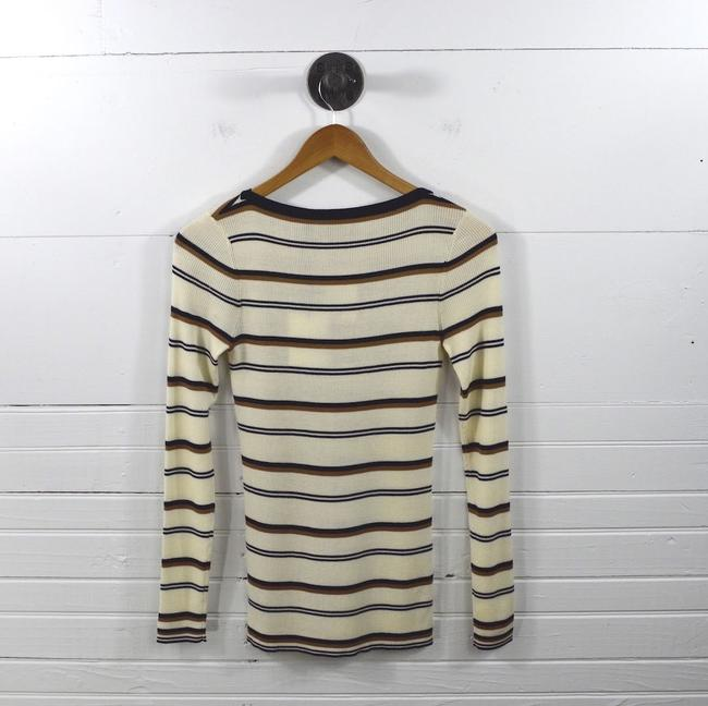 Theory Fall Holiday Striped Night Out Date Night Sweater Image 2