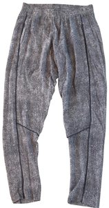 Bella Luxx Relaxed Pants White and Gray