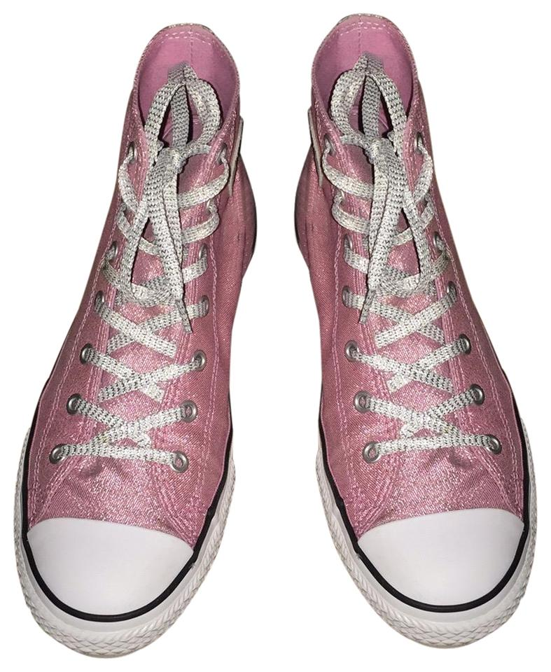 Converse Pink Glitter Sneakers Size US 8 Regular (M c71ff4cf3