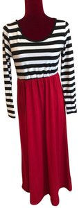 Black, White and Red Maxi Dress by NA