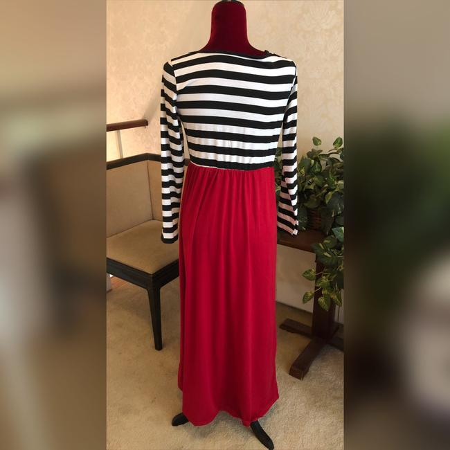 Black, White and Red Maxi Dress by NA Image 2