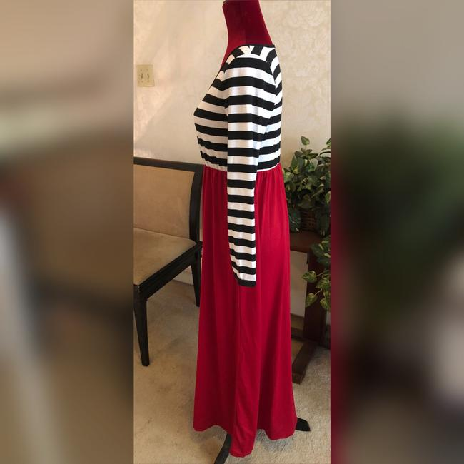 Black, White and Red Maxi Dress by NA Image 3