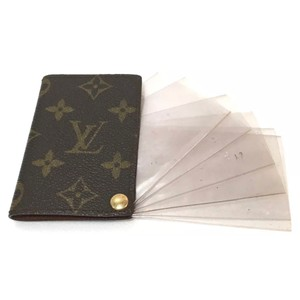Louis Vuitton Louis Vuitton Unisex Monogram Porte Cartes Pression Credit Card/Photo Case