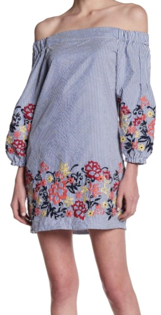 Preload https://img-static.tradesy.com/item/24508664/romeo-and-juliet-couture-blue-embroidered-striped-tunic-short-casual-dress-size-12-l-0-6-650-650.jpg