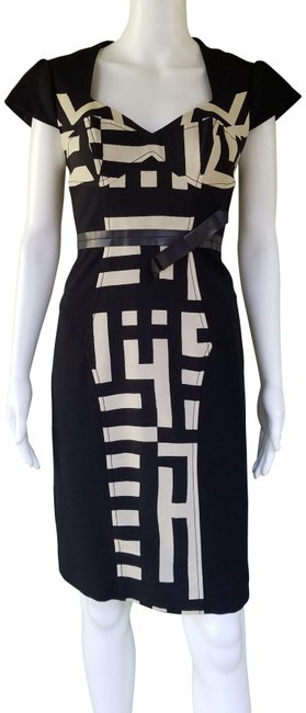 Preload https://img-static.tradesy.com/item/24508684/tracy-reese-black-beige-leather-trim-sheath-mid-length-workoffice-dress-size-4-s-0-1-650-650.jpg