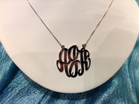 Silver Hand Cut Sterling 925 Necklace Image 1