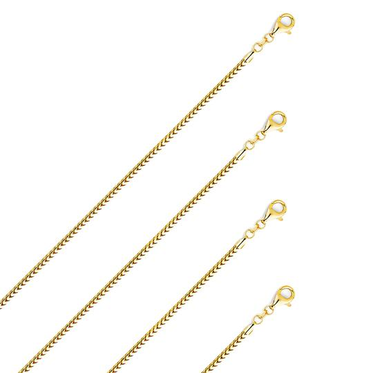TGDJ 14k Yellow Gold 2.2 mm Roundish Franco Chain - 26