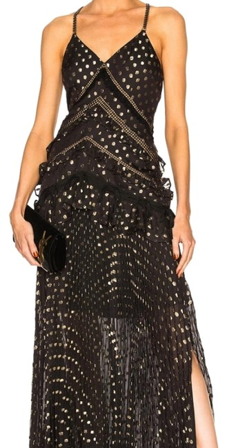 Preload https://img-static.tradesy.com/item/24508803/self-portrait-black-gold-fil-coupe-chiffon-pleated-maxi-long-formal-dress-size-10-m-0-1-650-650.jpg