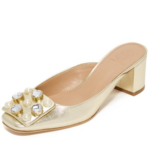 c95d00057 Gold Tory Burch Mules   Clogs - Up to 90% off at Tradesy