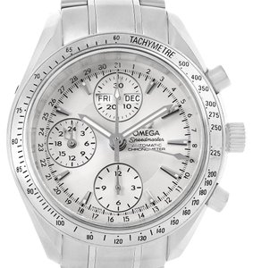 Omega Omega Speedmaster Day Date Chrono Silver Dial Watch 3221.30.00 Box