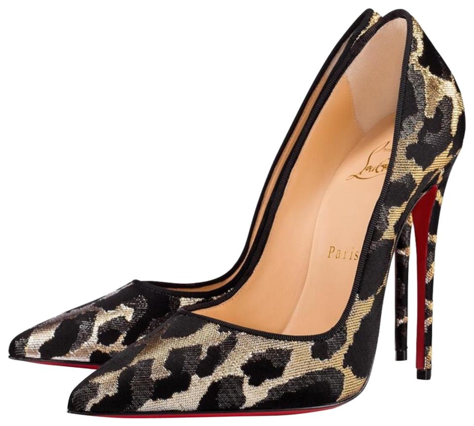 09833bc7f89 Christian Louboutin Black So Kate Feline Lurex Gold Silver Stiletto Pumps  Size EU 40 (Approx. US 10) Regular (M, B) 9% off retail