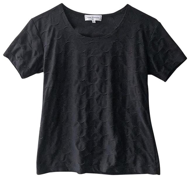 Preload https://img-static.tradesy.com/item/24508886/anne-fontaine-black-tee-shirt-size-2-xs-0-1-650-650.jpg