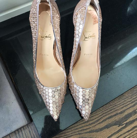 Christian Louboutin gold Pumps Image 3