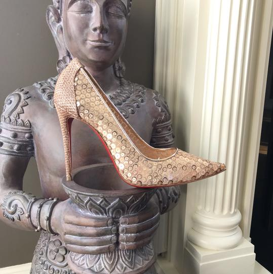 Christian Louboutin gold Pumps Image 6