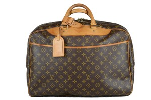 Louis Vuitton Alize Heures Tote in Brown