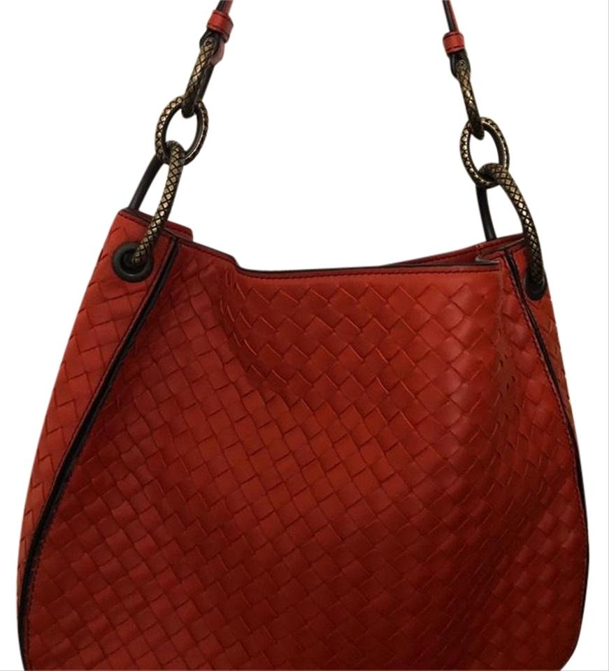 5beb970d1355 Bottega Veneta Intrecciato Nappa Loop Orange Leather Tote - Tradesy