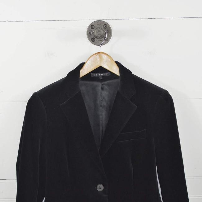 Theory Velvet Fall Winter Holiday Night Out Black Blazer Image 1