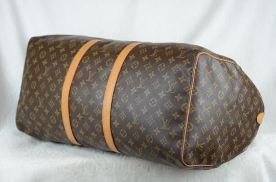 Louis Vuitton Keepall Monogram Canvas Tote in Brown Image 1