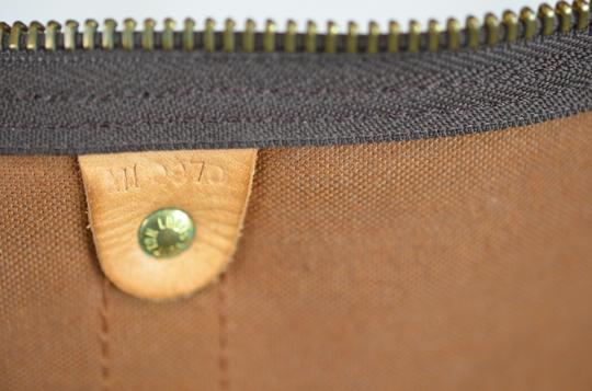 Louis Vuitton Keepall Monogram Canvas Tote in Brown Image 10