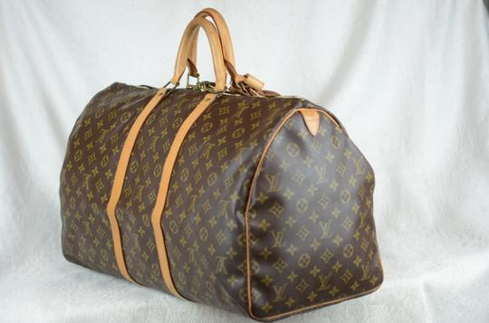Louis Vuitton Keepall Monogram Canvas Tote in Brown Image 2