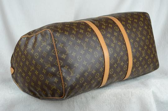 Louis Vuitton Keepall Monogram Canvas Tote in Brown Image 3