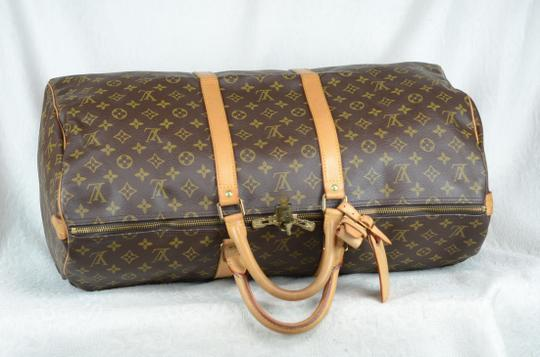 Louis Vuitton Keepall Monogram Canvas Tote in Brown Image 7
