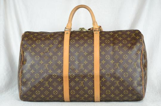 Louis Vuitton Keepall Monogram Canvas Tote in Brown Image 9