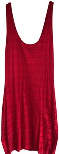 Scoop NYC short dress red Mini Flattering Fitted Stretch Eyelet on Tradesy