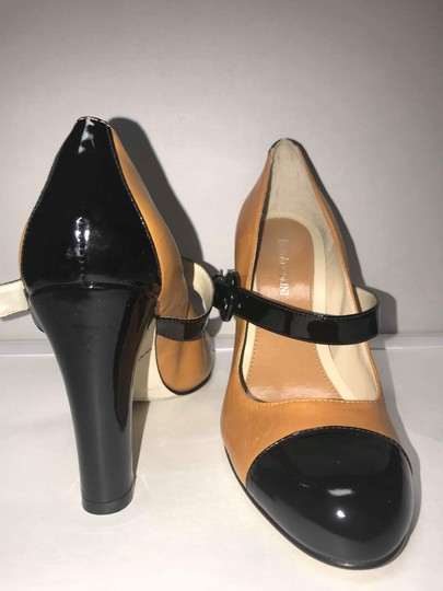 Enzo Angiolini Patent Leather Two-tone Mary Jane Fall Black and Tan Pumps Image 1