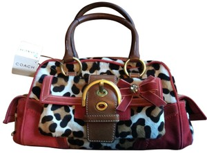 Coach Satchel in Red Brown