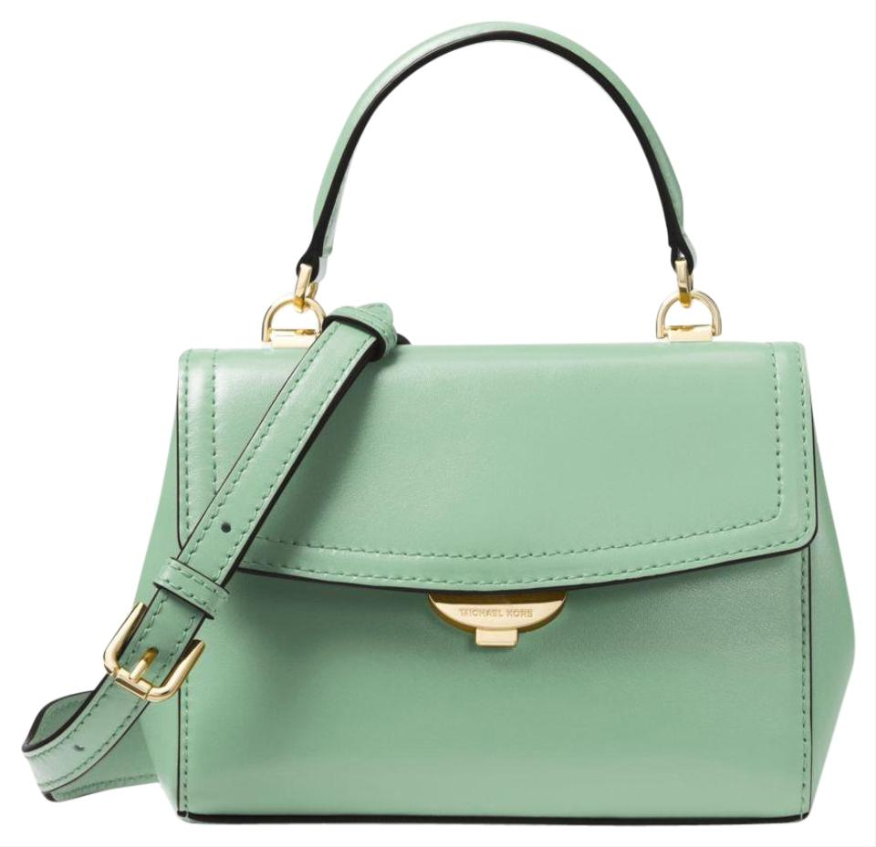 eee44c53741858 Michael Kors Ava Extra-small Pale Jade Leather Cross Body Bag - Tradesy