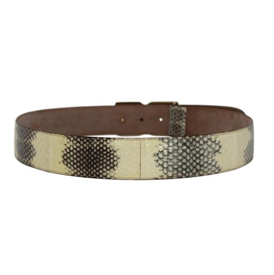 Dolce&Gabbana Python Belt w/ Mother of Pearl DG Gold-Tone Buckle - 90/36 Image 1