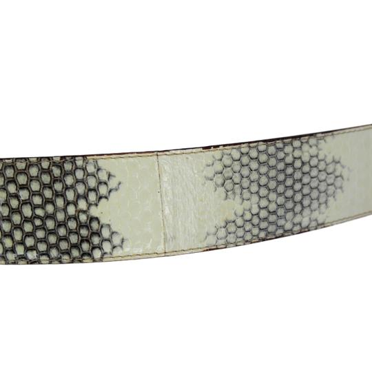 Dolce&Gabbana Python Belt w/ Mother of Pearl DG Gold-Tone Buckle - 90/36 Image 3
