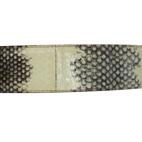 Dolce&Gabbana Python Belt w/ Mother of Pearl DG Gold-Tone Buckle - 90/36 Image 4