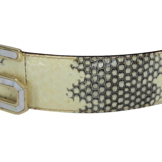 Dolce&Gabbana Python Belt w/ Mother of Pearl DG Gold-Tone Buckle - 90/36 Image 6