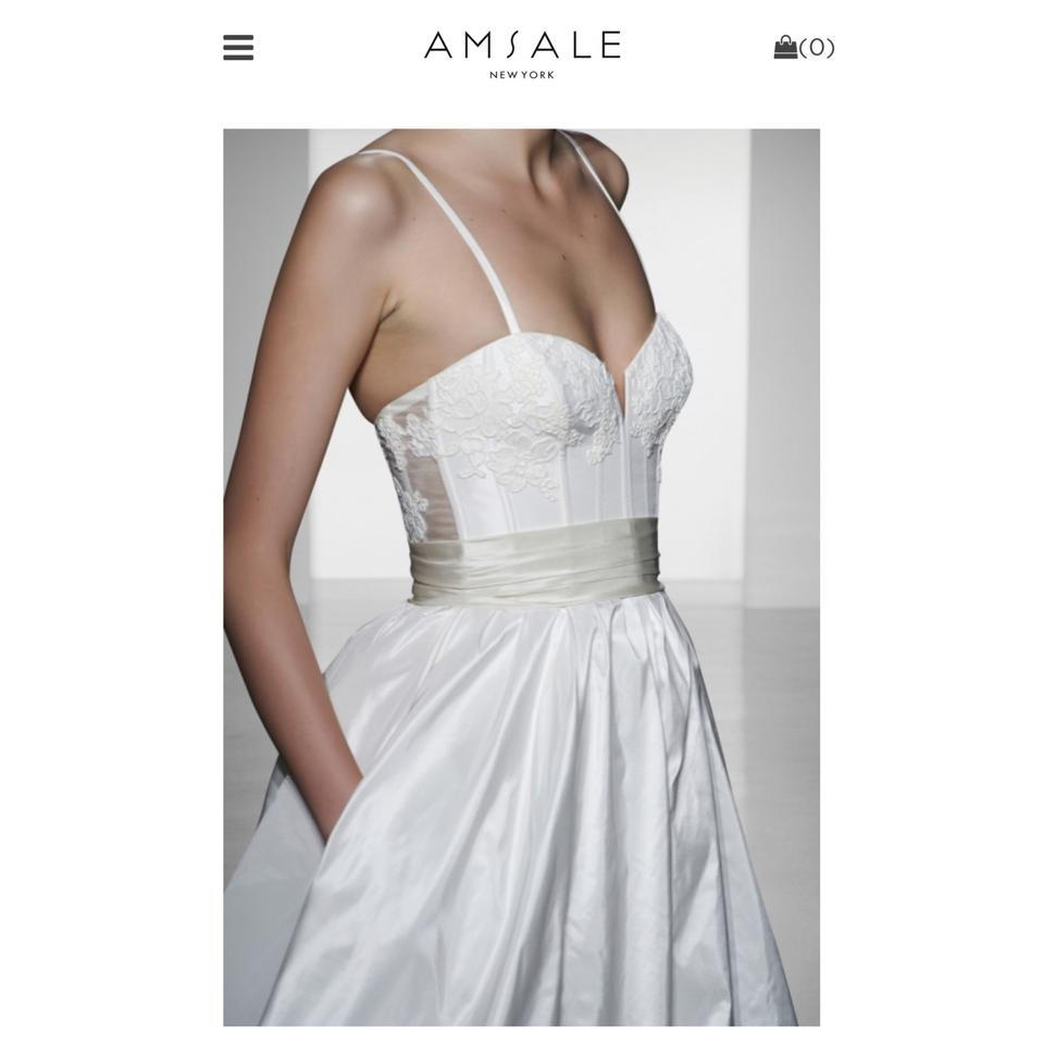 Wedding Dress Photography Silk Taffeta Bridal Gowns: Amsale Ivory/Caffe Cameron Silk Taffeta Corset Gown