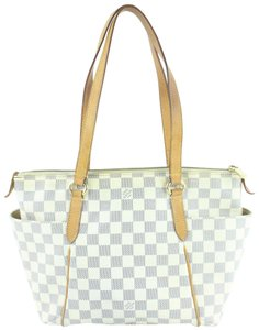 Louis Vuitton Neverfull Iena Lena All-in Tote in White