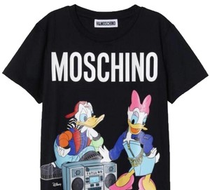 MOSCHINO [tv] H&M T Shirt black with print