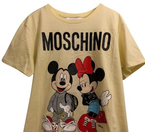 MOSCHINO [tv] H&M T Shirt cream with print