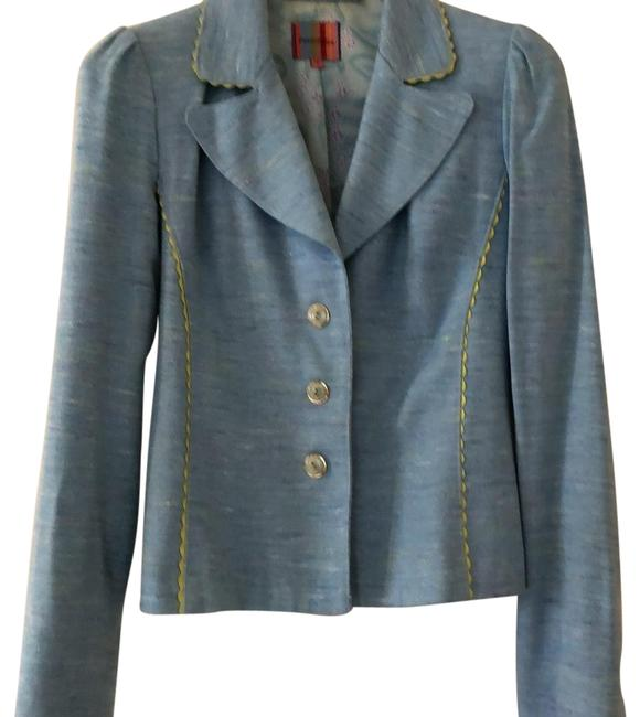 Item - Blue And Coordinating Skirt Suit Blazer Size 8 (M)