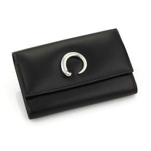 Cartier Panther C Black Leather Multi-Ring Key Wallet