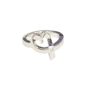 Tiffany & Co. Paloma Picasso Loving Heart Ring w/ Diamond Sz 5.5 $345 NWOT
