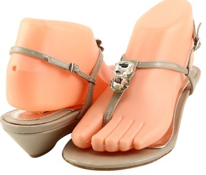 Badgley Mischka Patent Dressy Evening Ash Grey Sandals