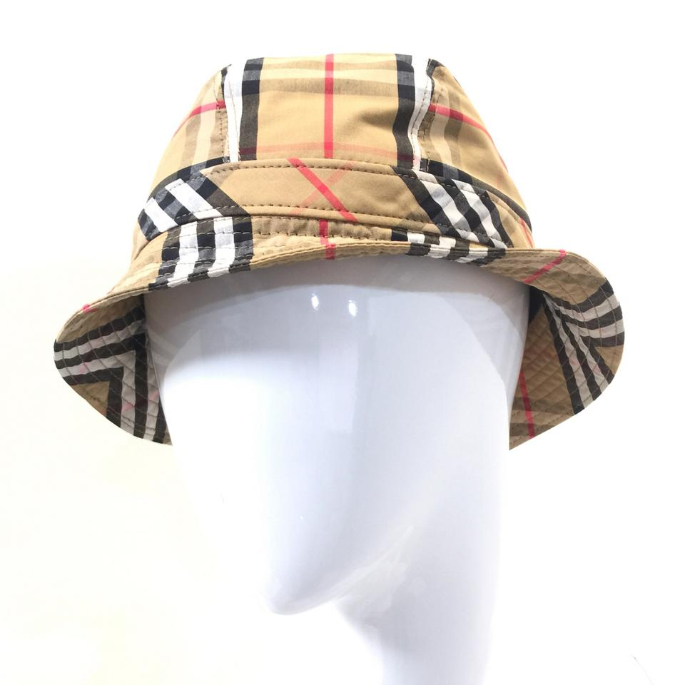 Burberry London Antique Yellow Vintage Check Bucket Size Small Hat ... f773d5dcc7f