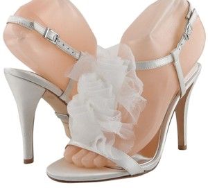 Badgley Mischka Evening White Sandals