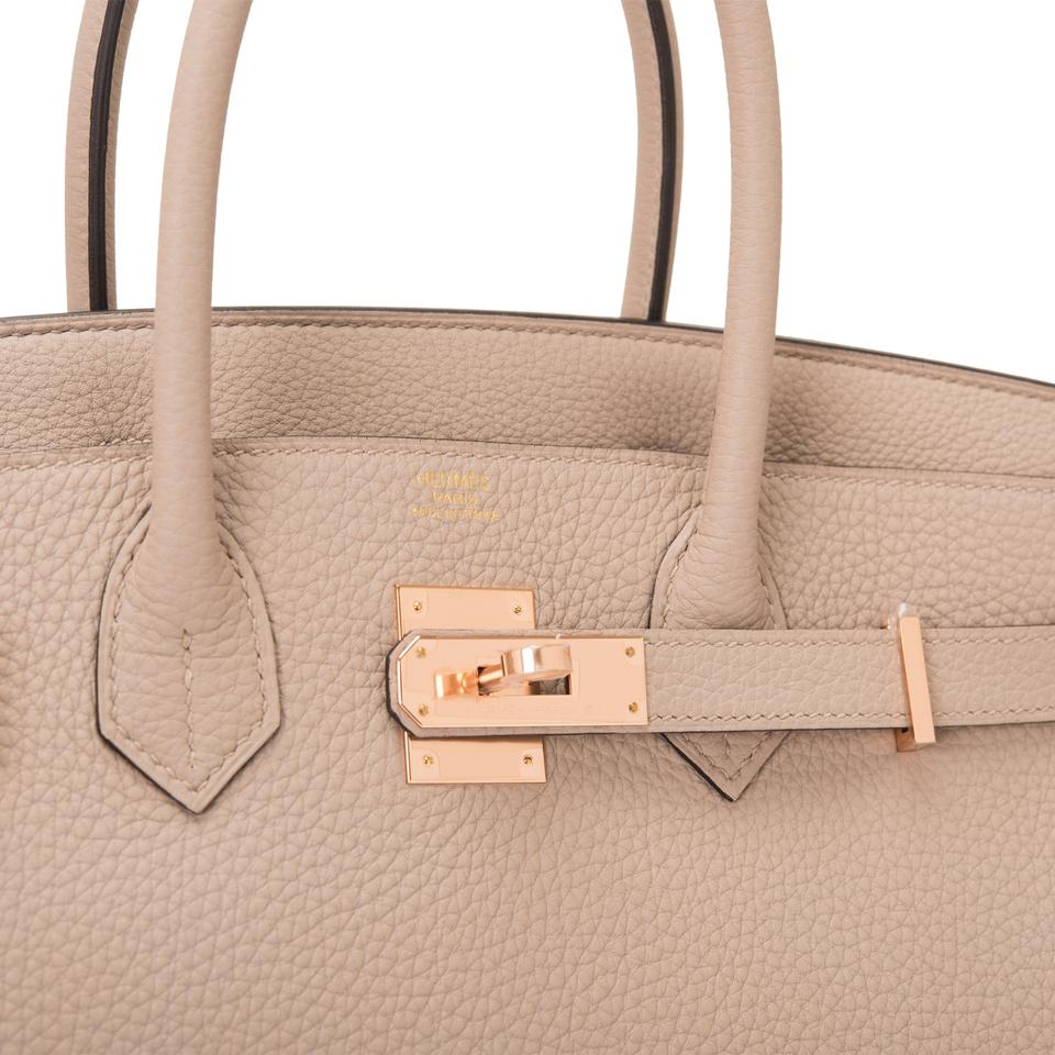 e5666ec715 Hermès Birkin Tourterelle Togo 30cm Rose Gold Hardware Grey Leather ...