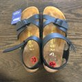 Birkenstock Black and Tan Leather Sandals Size EU 41 (Approx. US 11) Narrow (Aa, N) Birkenstock Black and Tan Leather Sandals Size EU 41 (Approx. US 11) Narrow (Aa, N) Image 2